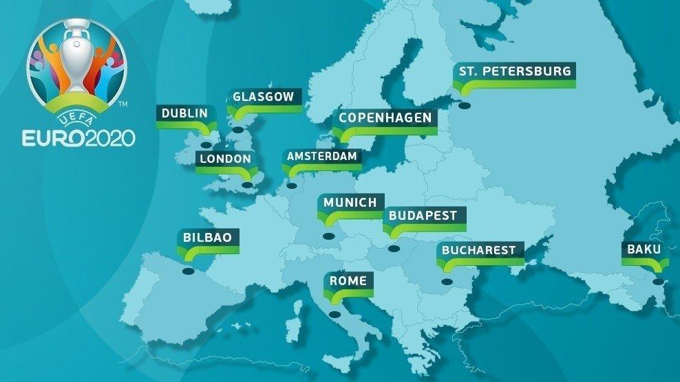Мапа ЕУРО 2020